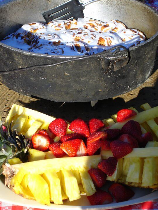 Dutch oven river breakfast