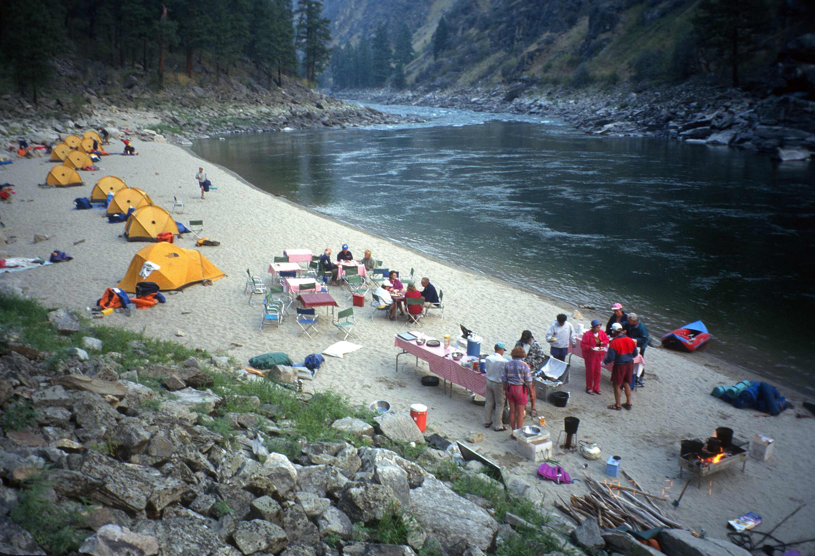 Kitchen Island With Trash Bin Dutch Oven Cooking And Camping Along The Salmon River Of
