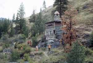 "Explore Buckskin Bill's ""Castle"" right off the Salmon River"