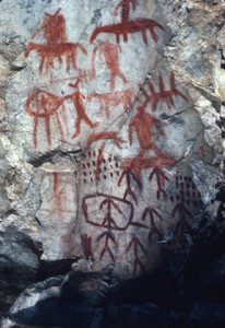 Historic Pictographs along the Salmon River