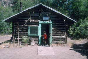 Explore old log cabins on your Salmon River rafting adventure