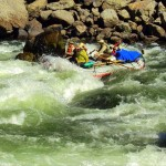 Lower Salmon River white water rafting through Snow Hole Rapid on the Salmon River with Aggipah's Salmon river guides.