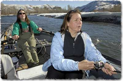Women Steelhead Fishing, with Aggipah's Idaho Fishing Guides, Missoulian Article