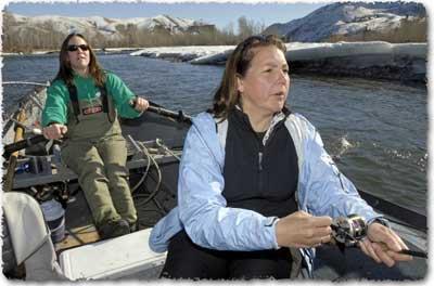 Women Steelhead Fishing, with Aggipah's Idaho Fishing Guides, Missoulian Article