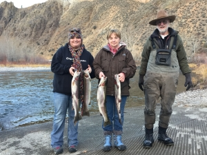 Women's steelhead fishing