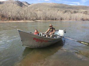 Kids steelhead fishing